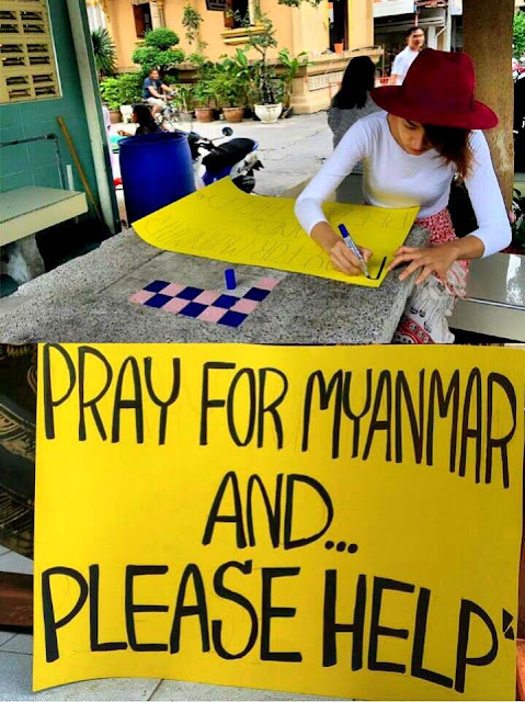 Kaew Korravee : PRAY FOR MYANMAR AND PLEASE HELP