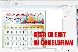 JADWAL IMSYAKIYAH 2019 RAMADHAN 1440 H jakarta coreldraw