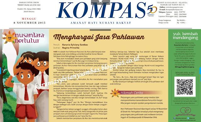 dimuat di Kompas Klasika Nusantara Bertutur edisi Minggu, 08 November 2015