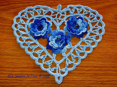 Baby Blue Irish Crochet Heart - By RSS Designs In Fiber on Etsy