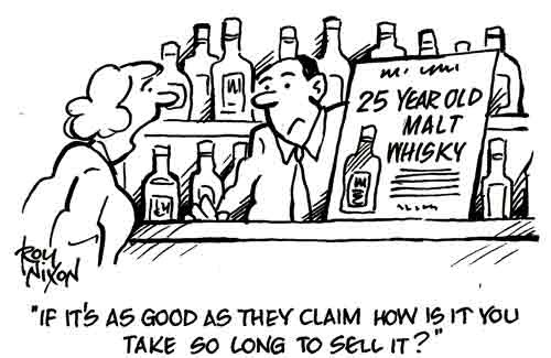 Roy Nixon's cartoon blog: Twenty-five Year Old Whisky