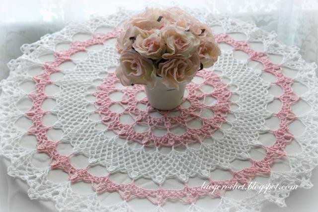 Lacy Crochet Honeysuckle Doily Free Vintage Pattern