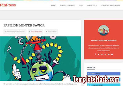 pinpress blogger template