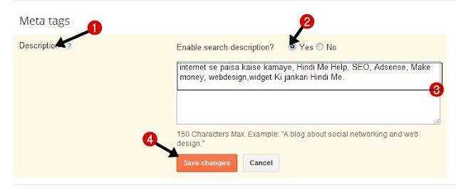 add SEO friendly keyword in meta tags in search description