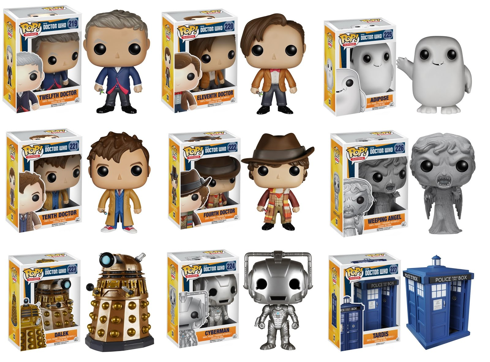 Doctor Who Pop Vinyl Figures