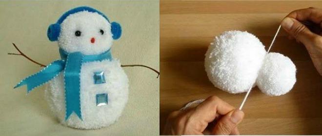 Χριστουγεννιάτικο στολιδάκι χιονάνθρωπος!!!!!! (ΠΩΣ ΝΑ ΤΟ ΦΤΙΑΞΕΤΕ)