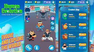 تحميل لعبة Human Evolution Clicker Game Mod Money مهكرة, Human Evolution Clicker Game: Rise of Mankind 1.1.9.5 Apk + Mod Money for Android