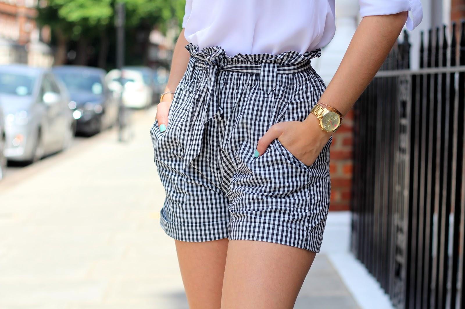 gingham shorts mango peexo