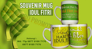 Souvenir Mug Idul Fitri, Mug Edisi Lebaran, Mug Edisi Idul Fitri, Cetak Custom