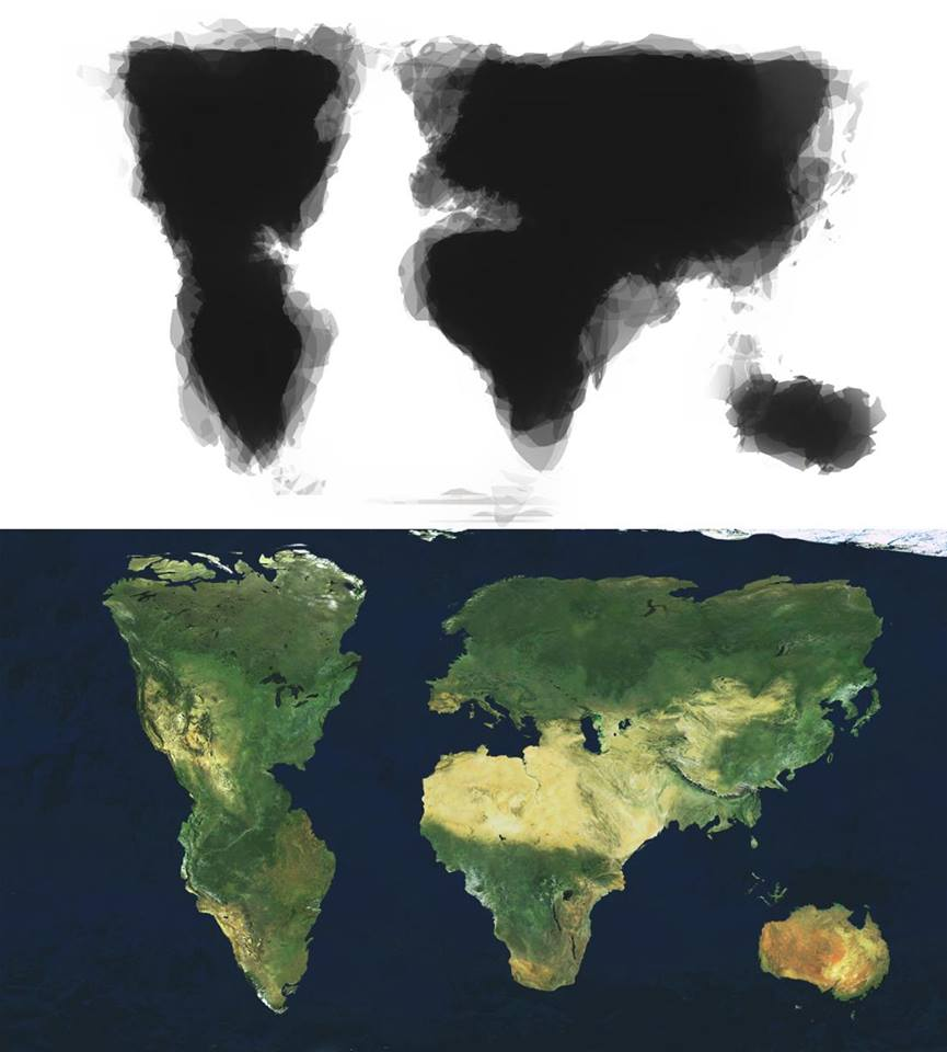 30 people drew a map of the world from memory