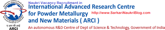 Naukri Vacancy Recruitment in ARCI