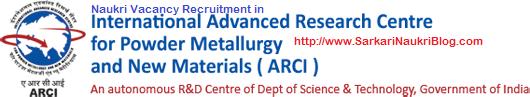 Naukri Vacancy Recruitment in ARCI
