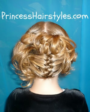 mermaid fin braid and updo hairstyle  hairstyles for