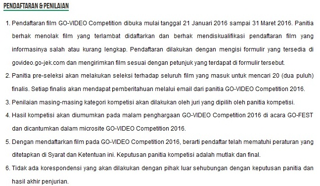 lomba film gojek, lomba video gojek, kompetisi video gojek, kompetisi film gojek