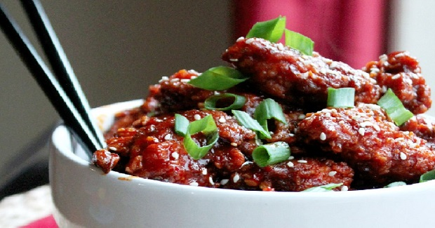 Korean Hot Chicken Nuggets Recipe