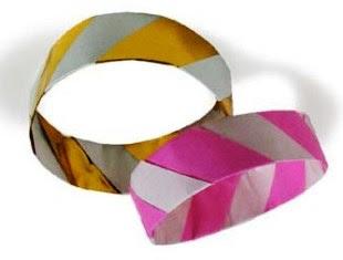 gelang 1 cara membuat dari kertas