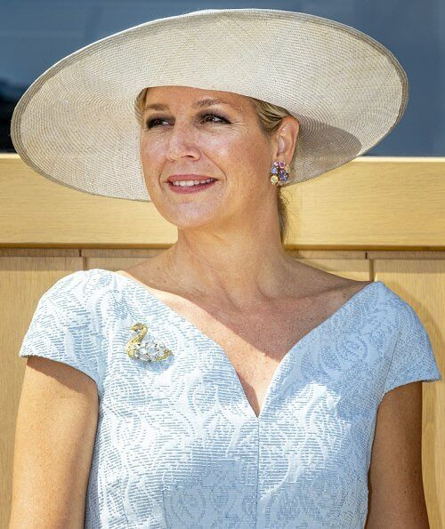 Queen Maxima wore a blue Natan dress