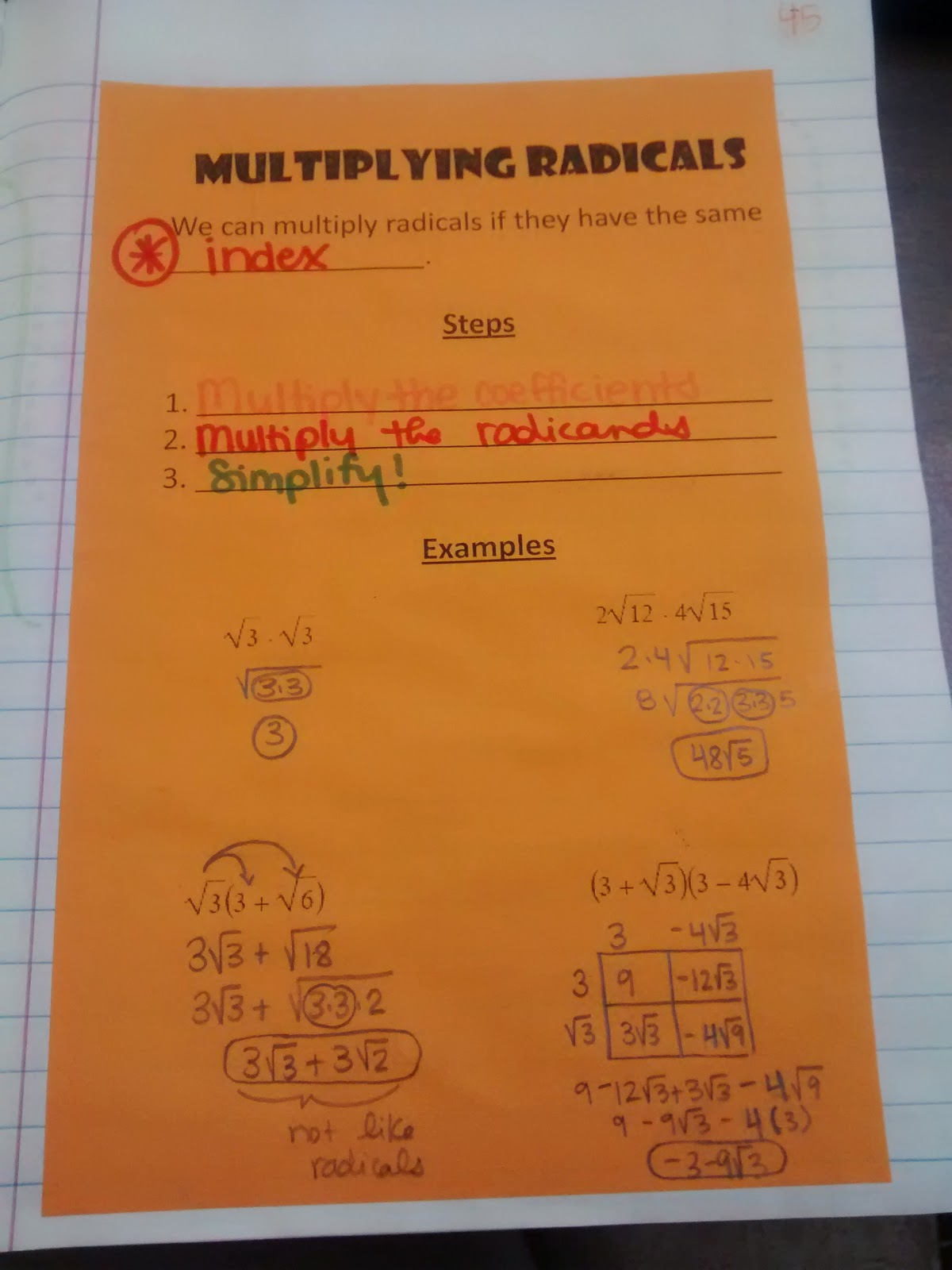 math worksheet : math u003d love algebra 2 interactive notebook pages galore : Skills Practice Workbook Answers