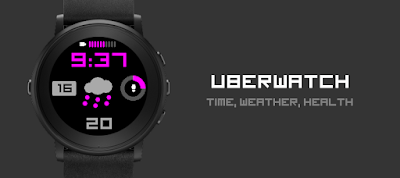 Uberwatch - dPwatchface - watchface for Pebble Time Round