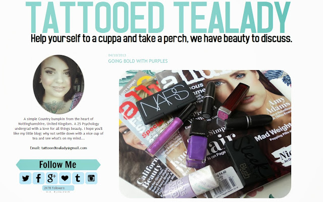 Tattooed Tealady Blog