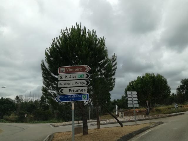 Placas indicativas do IC6 São Pedro de Alva
