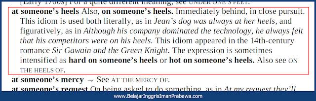 Arti On Someone's Heels