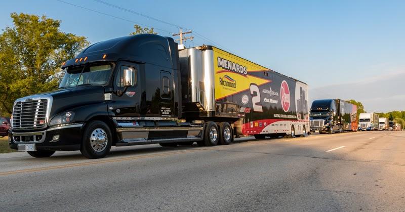 NASCAR Xfinity Series Team Haulers to Road America Friday