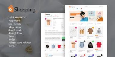 Toko Online AMP HTML Responsive Blogger Template