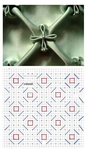 almofadas em capitonê com os diagramas para imprimir 2