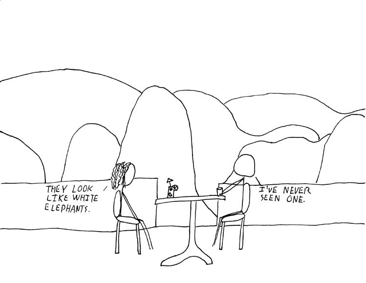 Language, Culture and Society.: Hills like white elephants