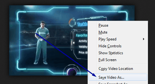save the video URL for download