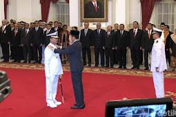 Presiden Jokowi Lantik Siwi Sukma Adji Jadi KSAL Gantikan Ade Supandi