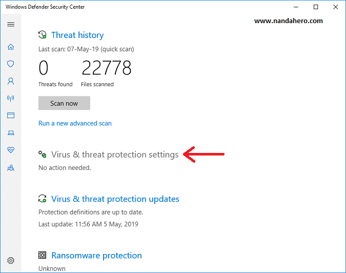 cara mematikan windows defender security center windows 10