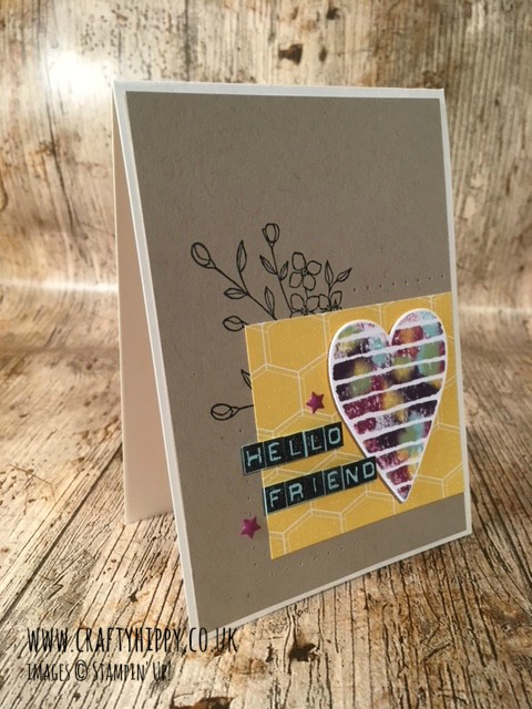 Create this Heart Happiness Card using Ink Refills and DSP by Stampin' Up!