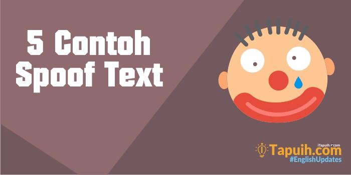 5 Contoh Spoof Text Lengkap