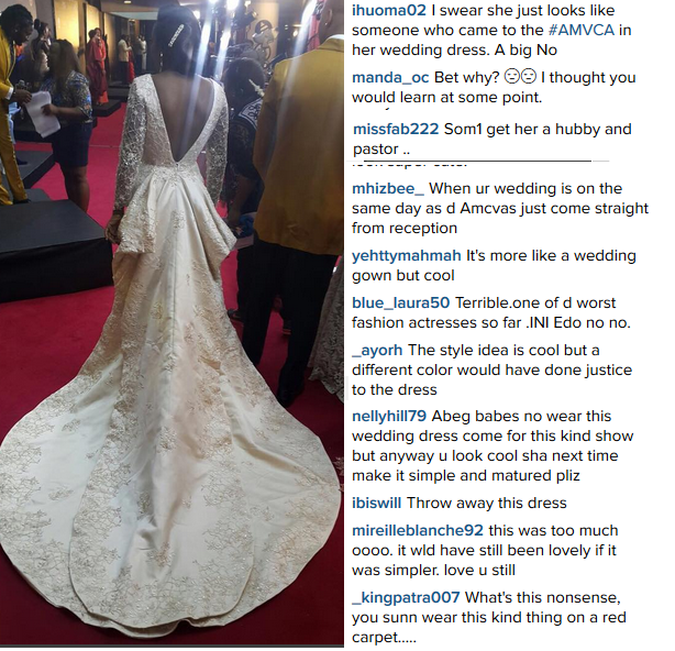 Ini edo dress to amvca slammed by fans and crtitics