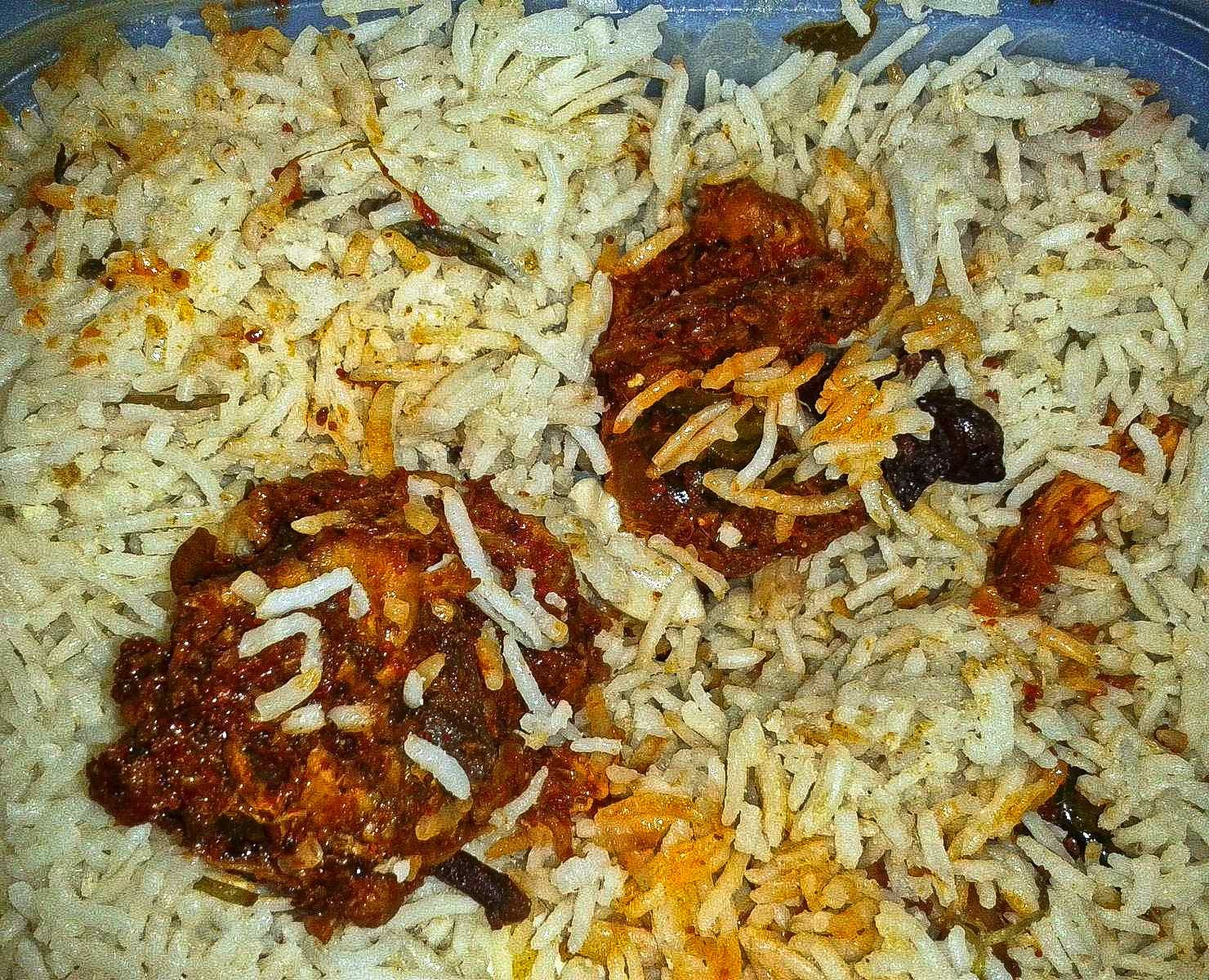 Hyderabad Andhra Srikanya Chicken Fry Biryani