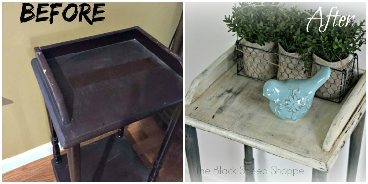 Before and After: small modern table gets a new (old) look.