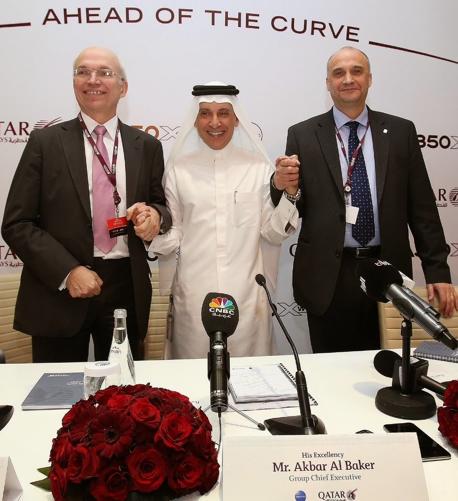 A350 XWB News: Qatar Airways´ first A350 XWB officially