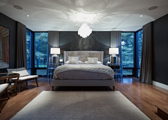 Picture of modern bedroom in the modern sustainable home