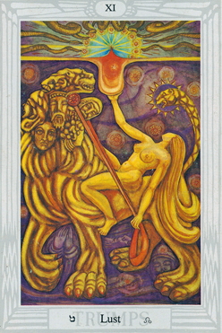 The Flaming Sword: Thoth Tarot Lust XI