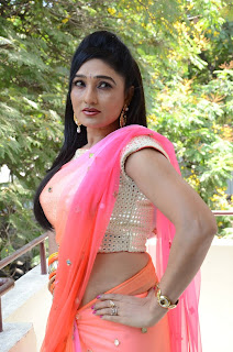 Actress Ramya Sri Stills in Saree at O Malli Interview  0125.JPG