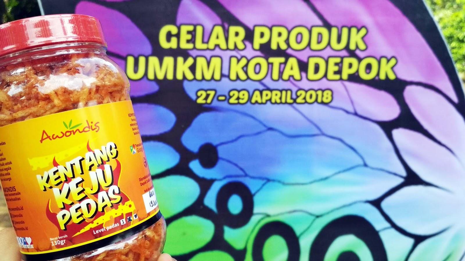 Camilan makanan enak kentang keju pedas Awondis produk makanan homemade UKM/UMKM/IKM dari kota Depok Jawa Barat