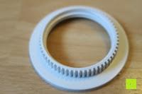 Schraub-Ring: kwmobile E27 Lampenfassung 3,5m Weiß - Netzkabel mit Schraubring Schalter - Lampenhalter und Kabel - Pendelleuchte - Lampenaufhängung - Hängeleuchte