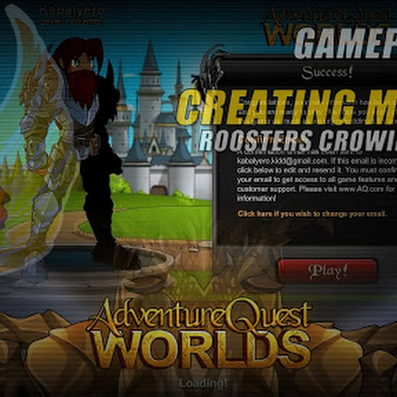 Adventure Quest Worlds ★ Creating My Hero ☆ Roosters Crowing Outside