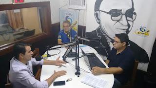 Jornal Municipal teve sua estreia hoje na rádio Cenecista