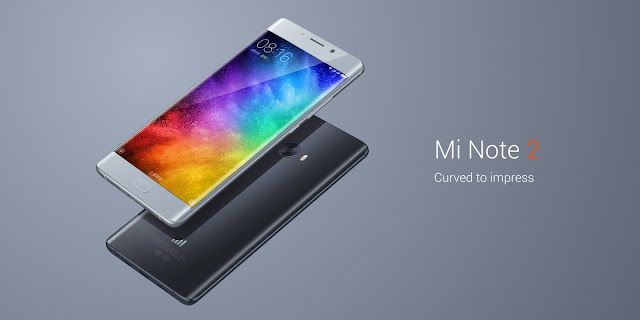 "Xiaomi Mi Note 2 Specifications - LAUNCH Announced 2016, October DISPLAY Type AMOLED capacitive touchscreen, 16M colors Size 5.7 inches (~74.2% screen-to-body ratio) Resolution 1080 x 1920 pixels (~386 ppi pixel density) Multitouch Yes  - MIUI 8.0/ 8.2 BODY Dimensions 156.2 x 77.3 x 7.6 mm (6.15 x 3.04 x 0.30 in) Weight 166 g (5.86 oz) SIM Dual SIM (Nano-SIM, dual stand-by) PLATFORM OS Android OS, v6.0 (Marshmallow) CPU Quad-core (2x2.35 GHz Kryo & 2x1.6 GHz Kryo) Chipset Qualcomm MSM8996 Snapdragon 821 GPU Adreno 530 MEMORY Card slot No Internal 64 GB, 4 GB RAM or 128 GB, 6 GB RAM CAMERA Primary 22.5 MP, f/2.0, EIS (gyro), phase detection autofocus, dual-LED (dual tone) flash Secondary 8 MP, f/2.0, autofocus Features 1/2.6"" sensor size, 1 µm pixel size, geo-tagging, touch focus, face detection, HDR, panorama Video 2160p@30fps, 1080p@30fps NETWORK Technology GSM / HSPA / LTE 2G bands GSM 850 / 900 / 1800 / 1900 - SIM 1 & SIM 2 3G bands HSDPA 850 / 900 / 1700(AWS) / 1900 / 2100 4G bands LTE band 1(2100), 2(1900), 3(1800), 4(1700/2100), 5(850), 7(2600), 8(900), 12(700), 13(700), 17(700), 18(800), 19(800), 20(800), 25(1900), 26(850), 28(700), 29(700), 30(2300), 38(2600), 39(1900), 40(2300), 41(2500) Speed HSPA 42.2/5.76 Mbps, LTE-A (3CA) Cat12 600/150 Mbps GPRS Yes EDGE Yes COMMS WLAN WLAN Wi-Fi 802.11 a/b/g/n/ac, dual-band, WiFi Direct, hotspot NFC Yes GPS Yes, with A-GPS, GLONASS, BDS USB C 1.0 reversible connector Radio No Bluetooth v4.2, A2DP, LE Infrared Port Yes FEATURES Sensors Sensors Fingerprint (front-mounted), accelerometer, gyro, proximity, compass, barometer Messaging SMS(threaded view), MMS, Email, Push Mail, IM Browser HTML5 Java No SOUND Alert types Vibration; MP3, WAV ringtones Loudspeaker Yes 3.5mm jack Yes  - 24-bit/192kHz audio  - Active noise cancellation with dedicated mic BATTERY  Non-removable Li-Ion 4070 mAh battery Stand-by  Talk time  Music play  Colors Black, Gold, Silver  - Fast battery charging: 83% in 30 min (Quick Charge 3.0) - XviD/MP4/H.265 player - MP3/WAV/eAAC+/Flac player - Photo/video editor"