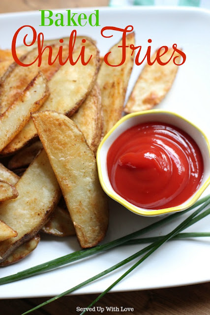 Baked Chili Fries recipe from Served Up With Love is so easy to make, you will never want to buy them again.