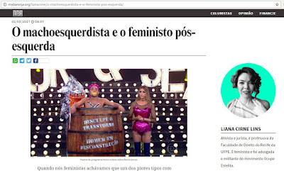 O machoesquerdista e o feministo pós-esquerda, Liana Cirne Lins, feminista professora da Faculdade de Direito do Recife da UFPE, Mídia Ninja