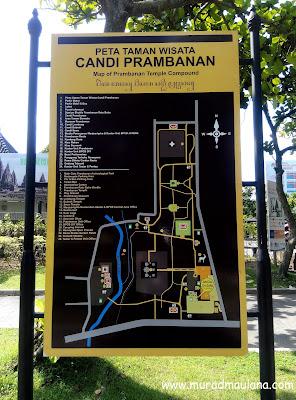 Peta Taman Wisata Candi Prambanan